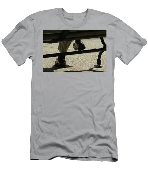 Polished Shoes On Bench Men's T-Shirt (Athletic Fit)