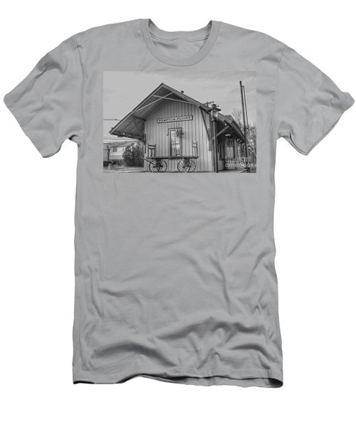 Pompton Plains Railroad Station And Baggage Cart Men's T-Shirt (Athletic Fit)