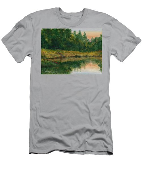 Pond With Spider Lilies Men's T-Shirt (Athletic Fit)