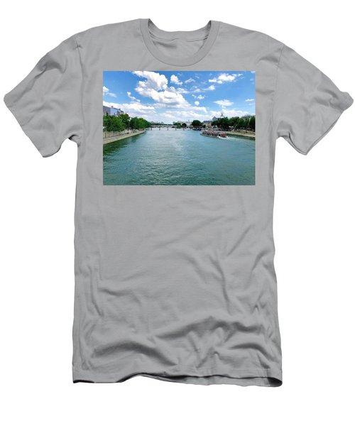 River Seine At Pont Du Carrousel Men's T-Shirt (Athletic Fit)