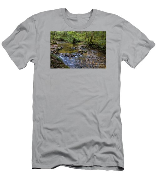 Men's T-Shirt (Slim Fit) featuring the photograph Pool At Cooper Creek by Barbara Bowen