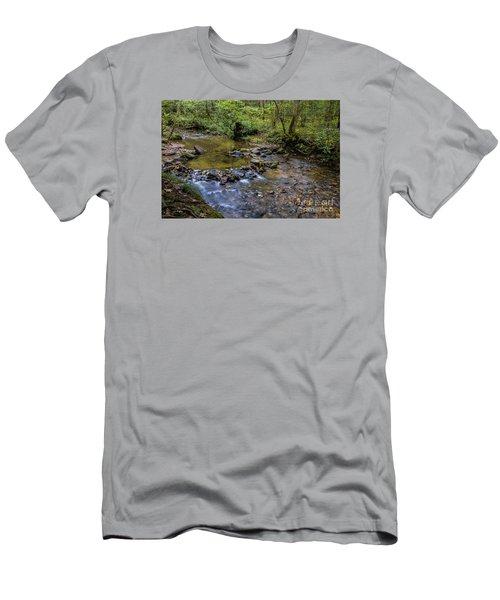 Pool At Cooper Creek Men's T-Shirt (Slim Fit) by Barbara Bowen