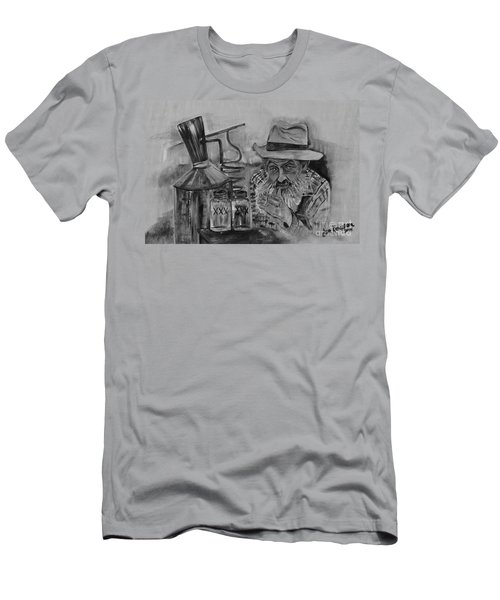 Popcorn Sutton - Black And White - Waiting On Shine Men's T-Shirt (Athletic Fit)