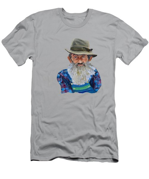 Popcorn Sutton Rocket Fuel- Transparent For T-shirt Men's T-Shirt (Athletic Fit)