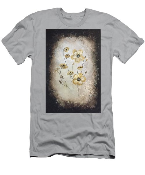 Poppies On Black Men's T-Shirt (Athletic Fit)