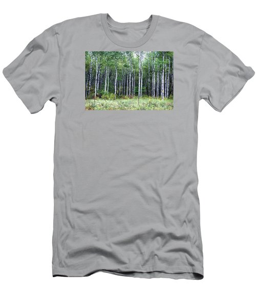 Men's T-Shirt (Slim Fit) featuring the photograph Popple Trees by Susan Crossman Buscho