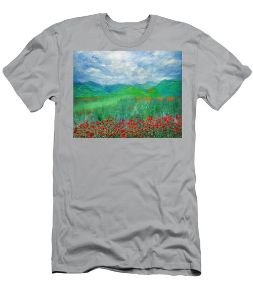 Poppy Meadows Men's T-Shirt (Athletic Fit)