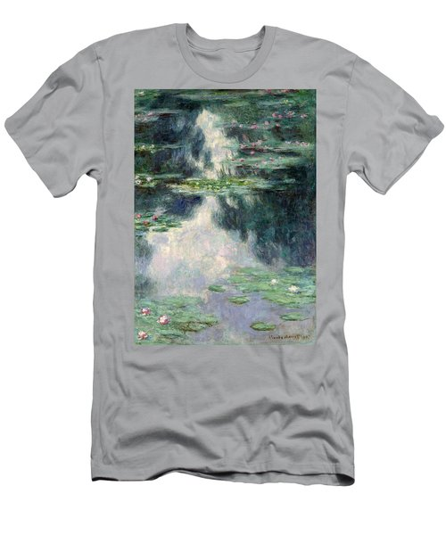 Port-pond With Water Lilies-1907 Men's T-Shirt (Athletic Fit)
