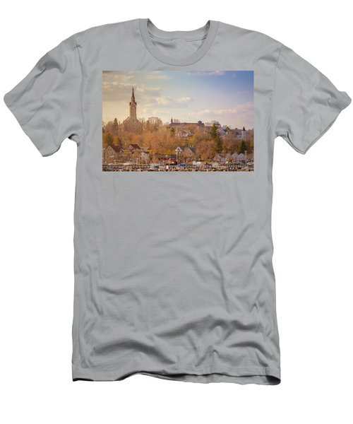 Port Washington Skyline Men's T-Shirt (Athletic Fit)