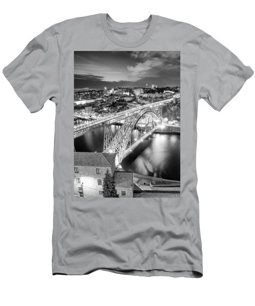 Porto Sao Luis I Bridge Men's T-Shirt (Athletic Fit)