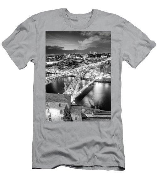 Porto Sao Luis I Bridge Men's T-Shirt (Athletic Fit)