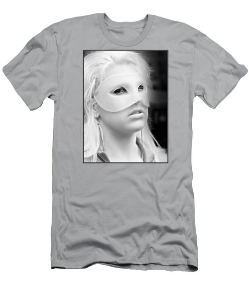 Portrait Of A Masked Heroine Men's T-Shirt (Athletic Fit)