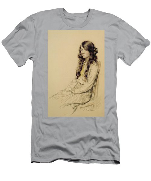 Portrait Of A Young Girl Men's T-Shirt (Athletic Fit)