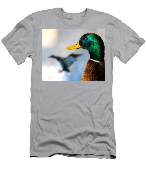 Men's T-Shirt (Athletic Fit) featuring the photograph Portrait Of Duck 2 by Bob Orsillo