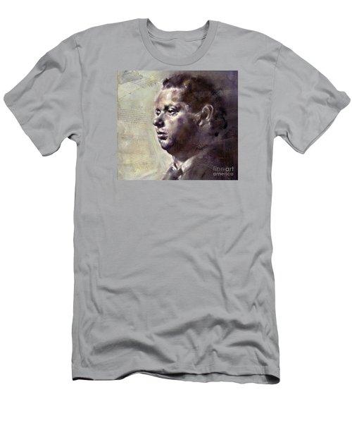 Portrait Of Dylan Thomas Men's T-Shirt (Athletic Fit)