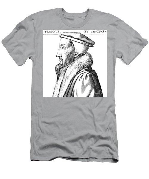 Portrait Of John Calvin Men's T-Shirt (Athletic Fit)