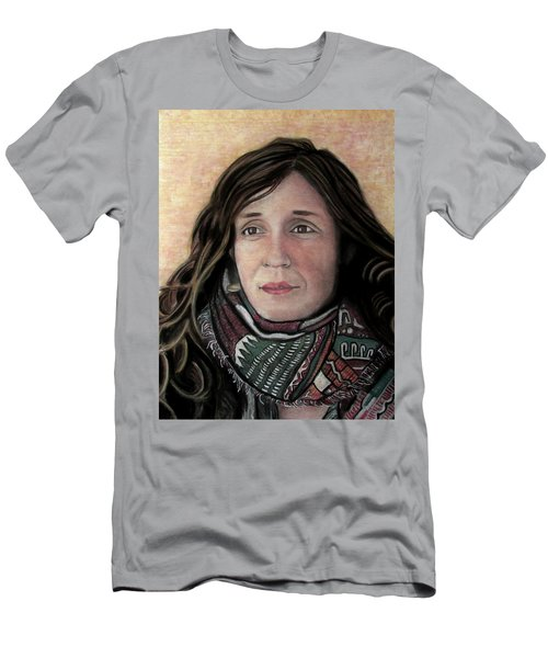 Men's T-Shirt (Slim Fit) featuring the pastel Portrait Of Katy Desmond, C. 2017 by Denny Morreale