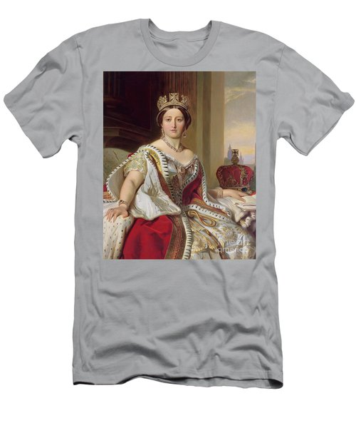 Portrait Of Queen Victoria Men's T-Shirt (Athletic Fit)