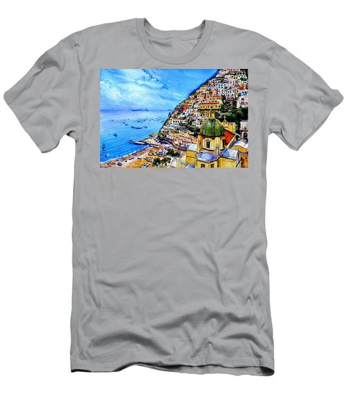 Men's T-Shirt (Athletic Fit) featuring the painting Positano by Hanne Lore Koehler
