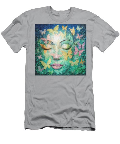 Men's T-Shirt (Slim Fit) featuring the painting Possibilities Meditation by Sue Halstenberg