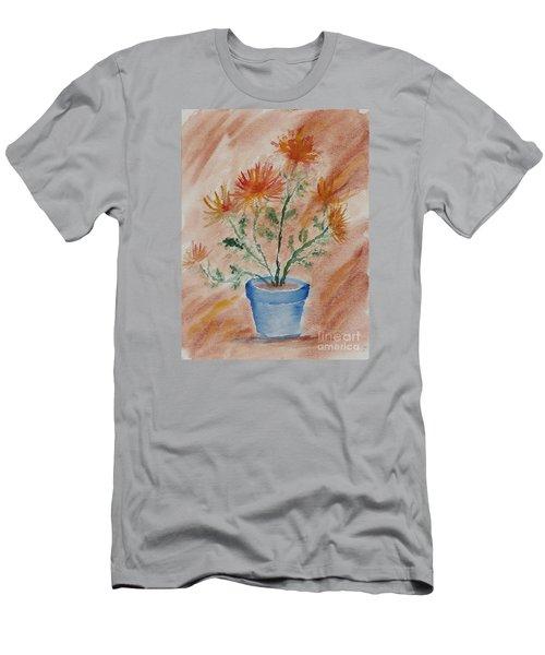 Potted Plant - A Watercolor Men's T-Shirt (Athletic Fit)