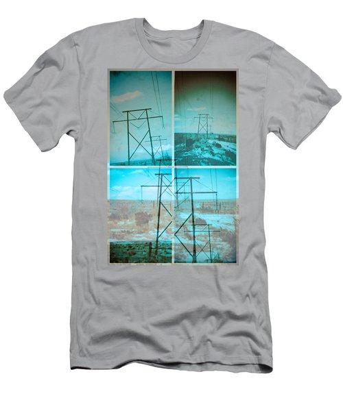 Power Line Patriots Men's T-Shirt (Slim Fit) by Bartz Johnson