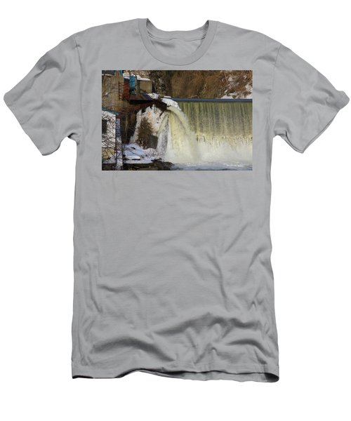 Power Station Falls On Black River One Men's T-Shirt (Athletic Fit)