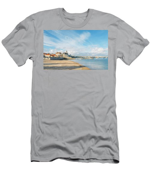 Praia Da Ribeira, Cascais, Portugal Men's T-Shirt (Athletic Fit)