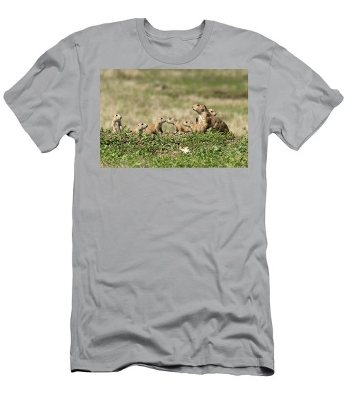 Prairie Dog Family 7270 Men's T-Shirt (Athletic Fit)