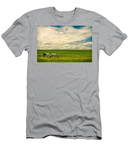 Men's T-Shirt (Athletic Fit) featuring the photograph Prairie Horses by Todd Klassy
