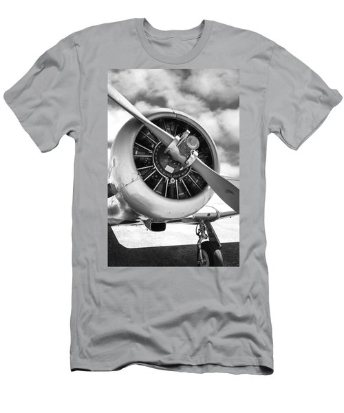 Pratt And Whitney R1340 Wasp Radial Engine Men's T-Shirt (Slim Fit) by Chris Smith