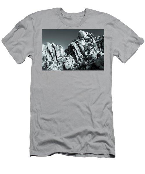 Precious Moment - Juxtaposed Rocks Joshua Tree National Park Men's T-Shirt (Athletic Fit)