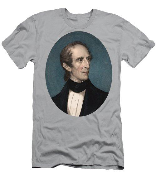 President John Tyler - Vintage Color Portrait Men's T-Shirt (Athletic Fit)