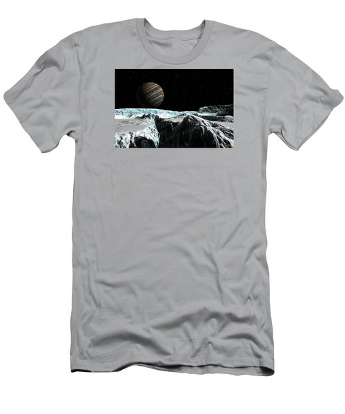 Men's T-Shirt (Slim Fit) featuring the digital art Pressure Ridge On Europa by David Robinson