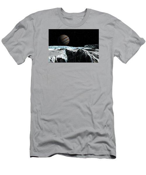 Pressure Ridge On Europa Men's T-Shirt (Athletic Fit)