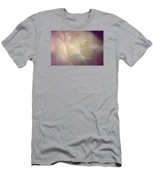 Men's T-Shirt (Slim Fit) featuring the photograph Pretty Cream Rose by The Art Of Marilyn Ridoutt-Greene