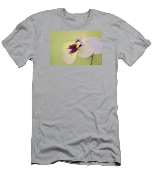 Pretty Pansy Macro Men's T-Shirt (Athletic Fit)
