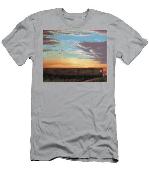 Private Sunrise.  Keep Out Men's T-Shirt (Slim Fit) by Albert Puskaric