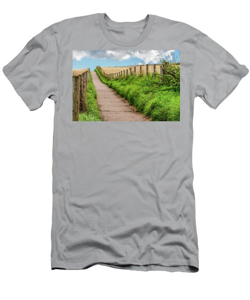 Promenade In Stonehaven Men's T-Shirt (Slim Fit) by Sergey Simanovsky