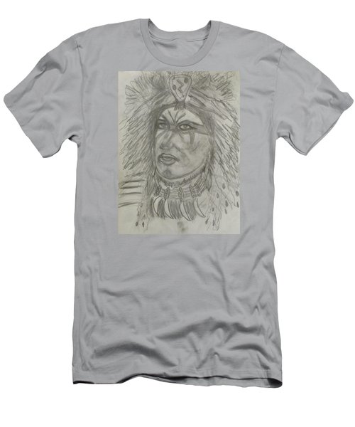 Men's T-Shirt (Slim Fit) featuring the drawing Proud Nation by Sharyn Winters