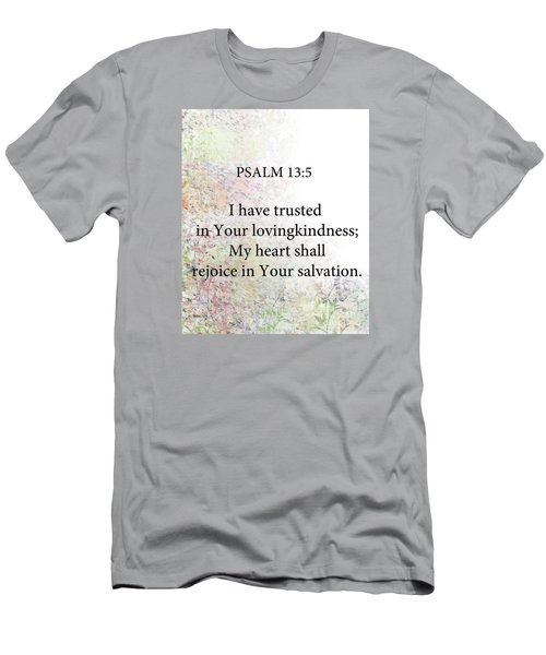 Men's T-Shirt (Slim Fit) featuring the digital art Psalm 13 5 by Trilby Cole
