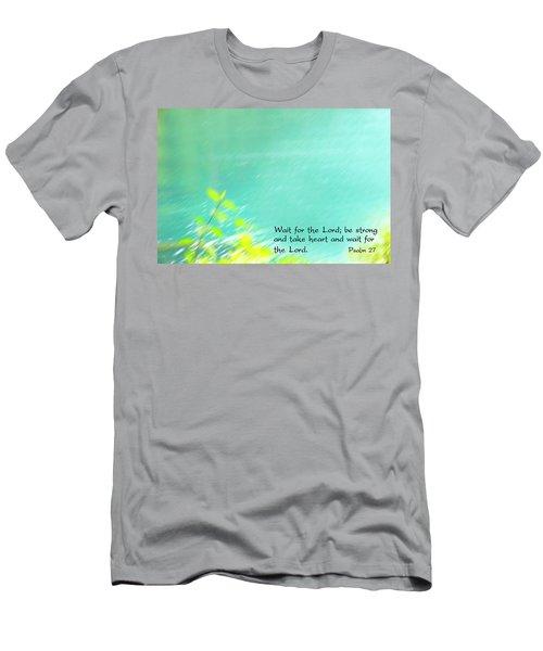 Psalm 27 Men's T-Shirt (Slim Fit) by Catherine Alfidi