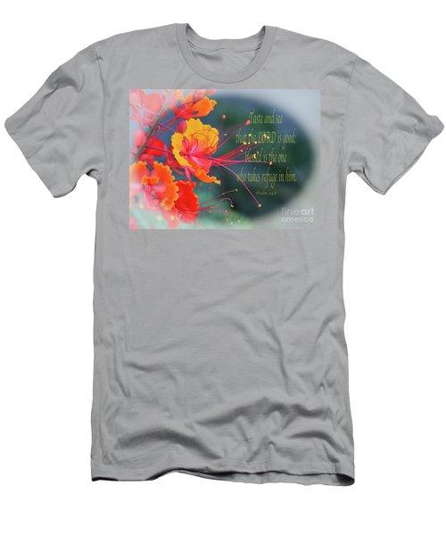Psalm 34 V 8 Men's T-Shirt (Athletic Fit)