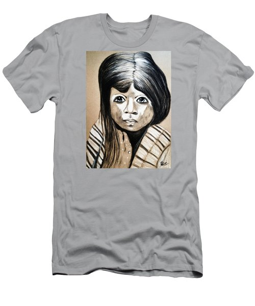 Men's T-Shirt (Slim Fit) featuring the drawing Pueblo Girl by Ayasha Loya