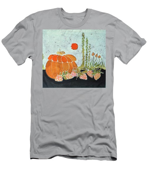 Pumpkin And Asparagus Men's T-Shirt (Athletic Fit)