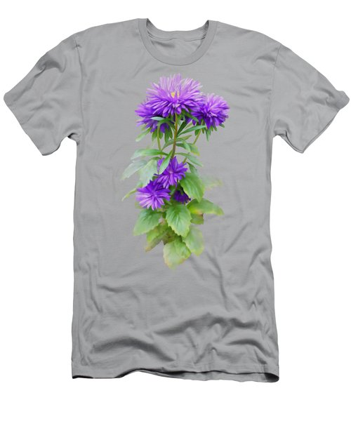 Men's T-Shirt (Athletic Fit) featuring the painting Purple Aster by Ivana