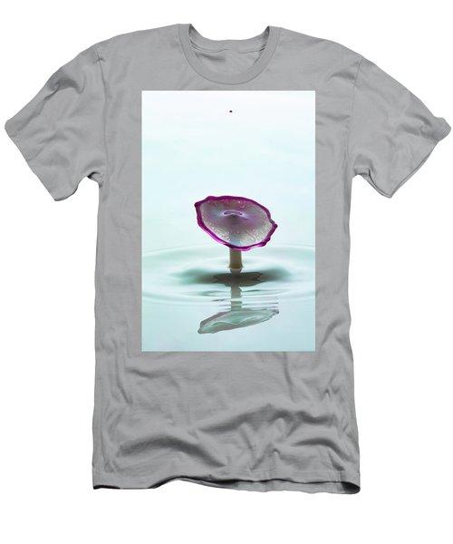 Purple Capped Drop Men's T-Shirt (Athletic Fit)
