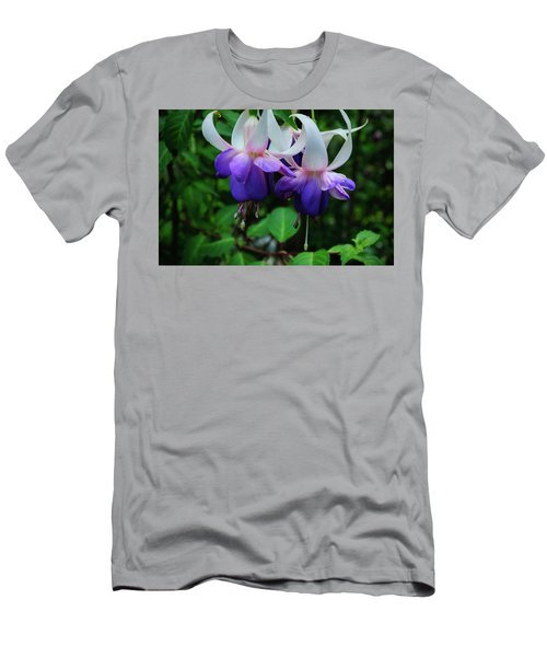 Men's T-Shirt (Athletic Fit) featuring the photograph Purple Fuschia by Tikvah's Hope