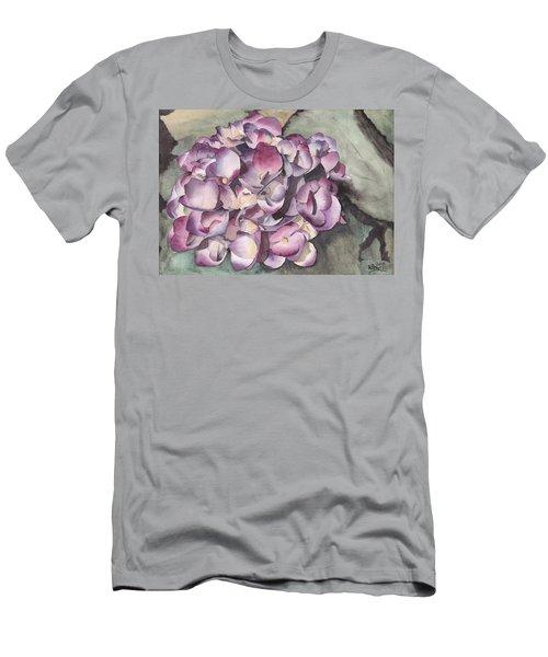 Purple Hydrangea Men's T-Shirt (Athletic Fit)