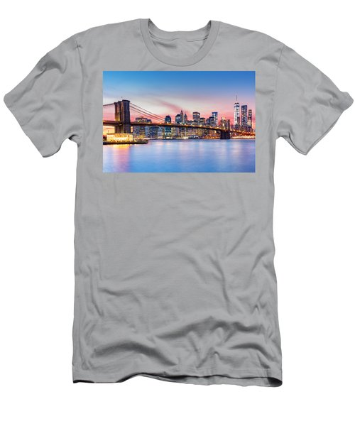 Purple Nyc Sunset Men's T-Shirt (Athletic Fit)